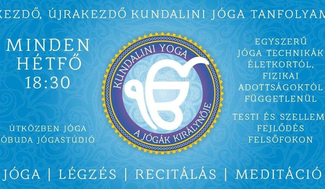 Kezdő, újrakezdő Kundalini jóga tanfolyam!